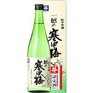 【5,000円以上送料無料】【ケース品】越の寒中梅 純米吟醸 720ml 12本入り