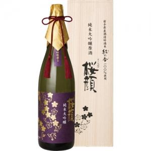 【送料無料】【ギフト品】【代引不可】桜顔 純米大吟醸 結の香 1800ml