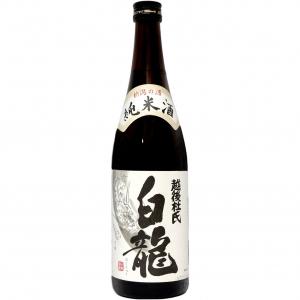 【5,000円以上送料無料】【ケース品】白龍 純米酒 越後杜氏 720ml 12本入り