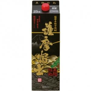 【5,000円以上送料無料】【ケース品】黒 薩摩富士 25度 1800ml 6本入り