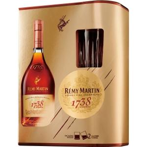 【送料無料】【ギフト品】【代引不可】レミーマルタン 1738 750ml グラス2脚つき 40度