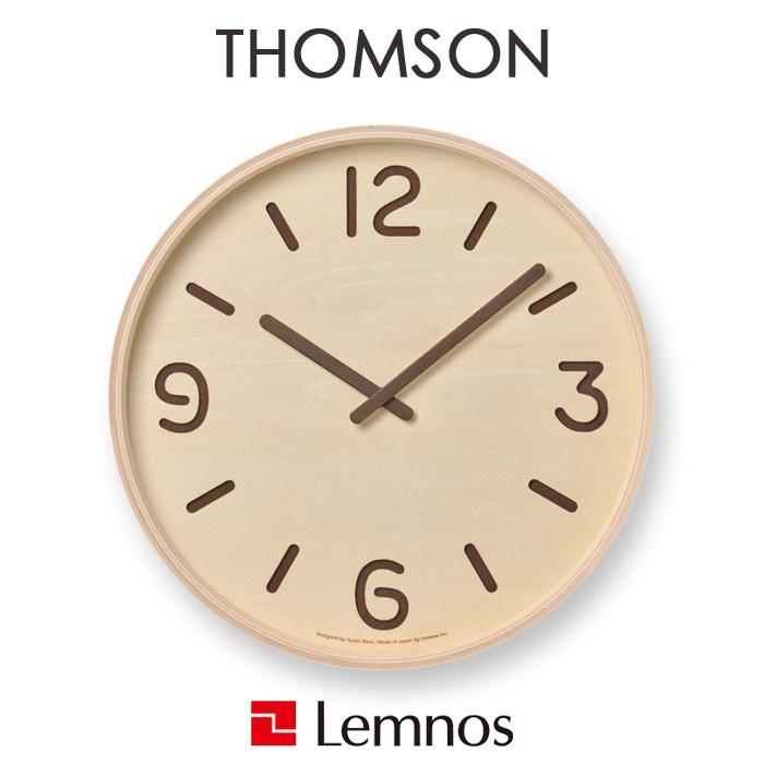 【着後レビューで選べる特典】 レムノス Lemnos 「THOMSON (トムソン)」 掛け時計 時計 壁掛け 北欧 木製 ナチュラル タカタレムノス おしゃれ 丸 円 30cm ウッド プライウッド インテリア雑貨 おしゃれ雑貨