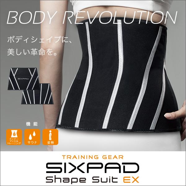 【着後レビューで今治タオル他】 SIXPAD Shape Suit EX シェイプスーツ イーエックス MTG SP-SE2024F ボディシェイプ サウナ機能 発汗 インナーマッスル トレーニング ウエスト 引き締め 体幹 腹横筋 姿勢 着圧 運動 日常生活 シックスパッド