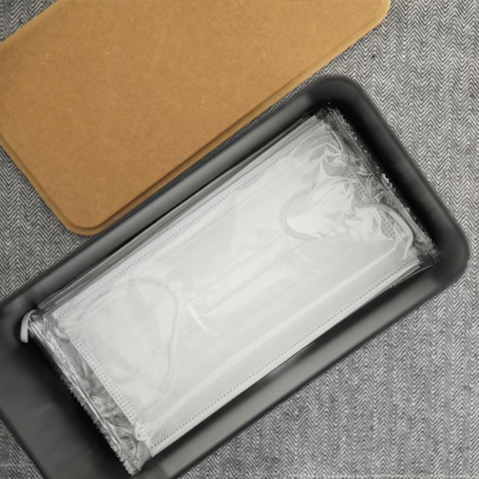 ideaco/イデアコ 「Mask Dispenser60( マスクディスペンサー )」マスクケース 容器 マスク入れ ボックス BOX ディスペンサーマスク 使い捨てマスク 紙マスク 収納 おしゃれ 木目調 北欧 ナチュラル シンプル 省スペース ホワイト