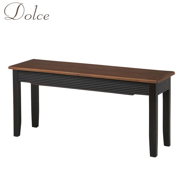 Dolce(ドルチェ) 「ダイニングベンチ」 椅子 チェア 食卓 天然木 ブラック エレガント/アンティーク/東洋 【送料無料】