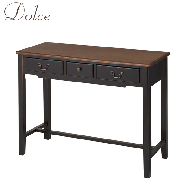 Dolce(ドルチェ) 「コンソールテーブル」 デスク 机 小型テーブル 天然木 ブラック エレガント/アンティーク/東洋 【送料無料】