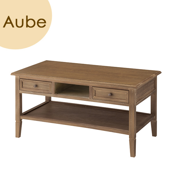Aube(オーブ) 「センターテーブル」 ブラウン 天然木(桐) リビングテーブル ローテーブル 座卓 レトロ 北欧 【送料無料】
