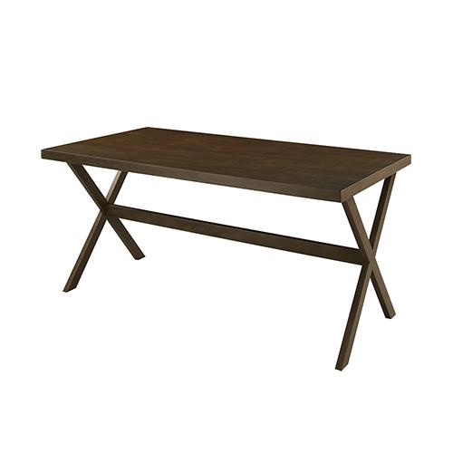 「ダイニングテーブル」 天然木 ワイドタイプ ブラウン 【送料無料】