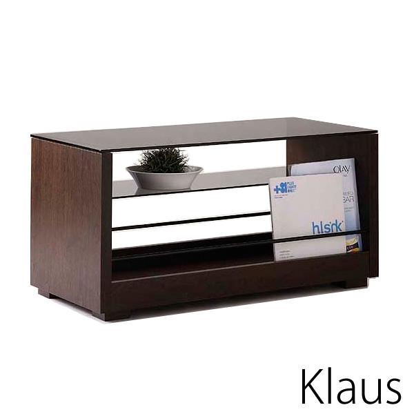 「Klaus(クラウス)テーブル」 ブラウン ローテーブル 1セット2台組 【送料無料】