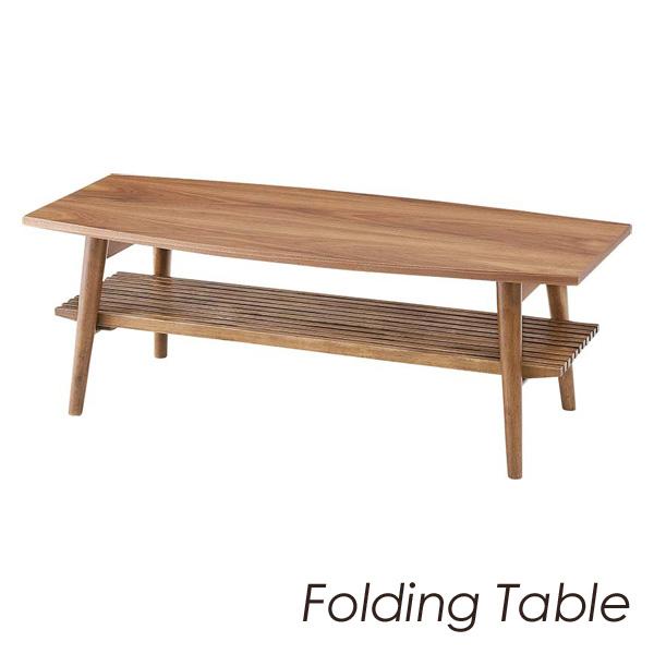「アポロ フォールディングテーブル」 ラバーウッド ローテーブル、折り畳みテーブル 【送料無料】