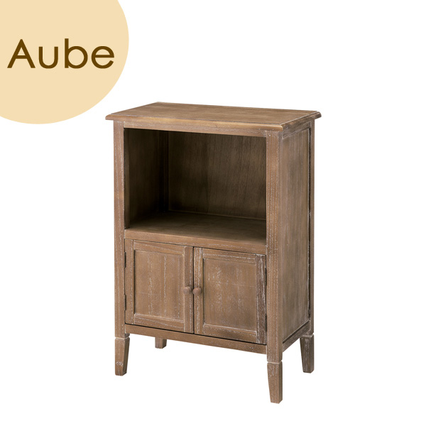 Aube(オーブ) 「シェルフ」 ブラウン 天然木(桐) リビング収納 レトロ 北欧 【送料無料】
