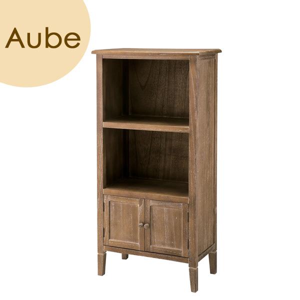 Aube(オーブ) 「トールシェルフ」 ブラウン 天然木(桐) リビング収納 レトロ 北欧 【送料無料】