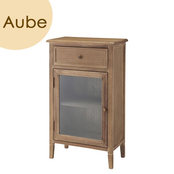 Aube(オーブ) 「キャビネット」 ブラウン 天然木(桐) リビング収納 レトロ 北欧 【送料無料】