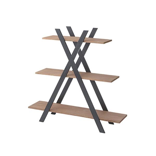 Isaac 「アイザック シェルフ3D」 棚 収納 ラック 天然木(ミンディ) ナチュラル おしゃれ【送料無料】
