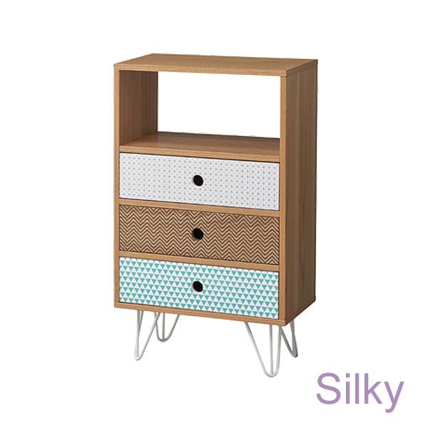 Silky 「シルキー チェスト4D」 引き出し収納 衣類収納 天然木化粧繊維板(アッシュ) 北欧 ノルディック ナチュラル おしゃれ【送料無料】