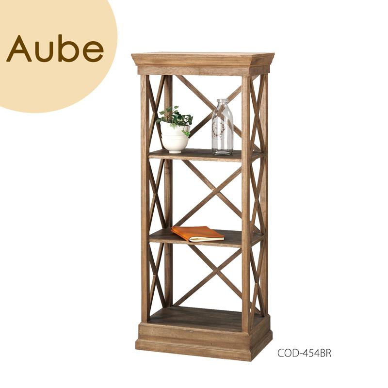 Aube(オーブ) 「シェルフ 3D」 ブラウン モダンデザイン、シンプルデザイン 天然木(桐) 【送料無料】