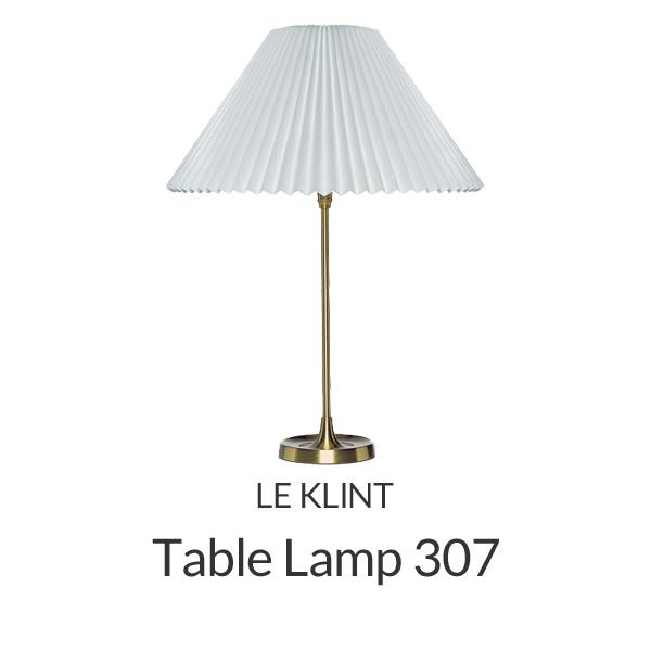 【正規品】LE KLINT(レ・クリント)「Table 307」[φ38 x H51(cm)]北欧デザインライト、北欧インテリア テーブルライト、デスクライト 照明 レクリント【送料無料】