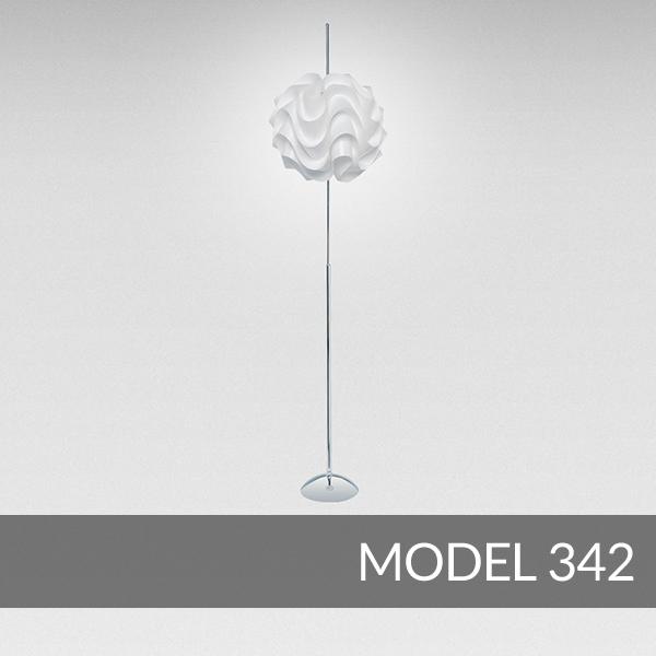 【正規品】LE KLINT(レ・クリント)「Table 342」[φ44 x H175(cm)]北欧デザインライト、北欧インテリア フロアライト、スタンドライト 照明 レクリント【送料無料】