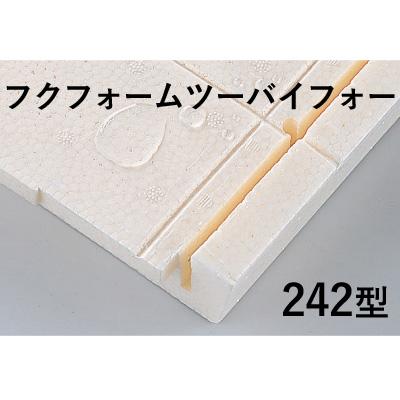 FUKUVI(フクビ) フクフォームツーバイフォー 「242型」 <2坪入り/16枚入り> ツーバイフォー工法用 床下断熱材 納まり寸法:417mm-421mm 建築 資材 床下 簡単施工 2×4【送料無料】
