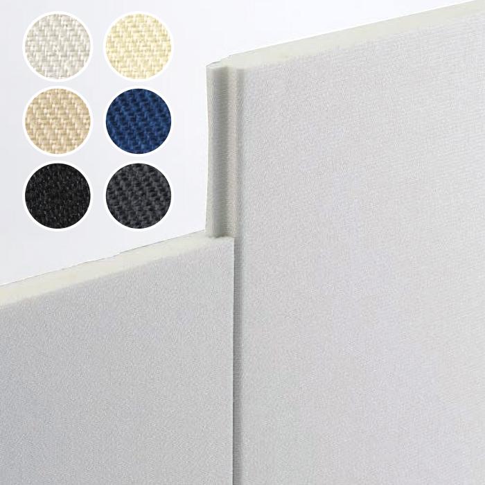 吸音・断熱用内装仕上げ材 「アクリアサウンドボード 厚手高級ガラスクロス仕様(KS-4200)」 厚さ25×幅900×長さ2,500mm (1ケース/4枚入) 旭ファイバーグラス製