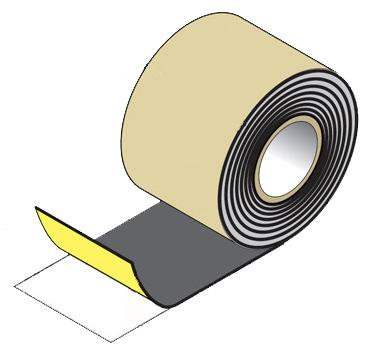 防水・防湿粘着テープ「ハイブリッド防水テープ 両面タイプ 50W」フクビ製16巻セット幅50mm×長さ20m×厚さ0.4mm