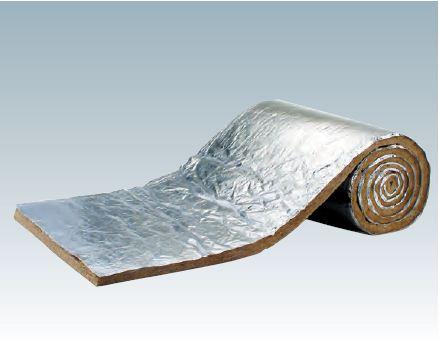ロックウール吸音・断熱材「MGマイティロール ALGC貼り」密度40K<厚さ50×910×5.5M 1本入り>
