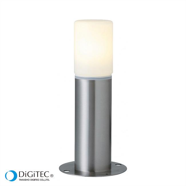 タカショー ガーデンライト 『エクスレッズ ミニポールライト 2型』 シルバー LEDモジュール4.5W(電球色) LEDライト/庭の照明/防雨製 【ローボルトライト(12V)】