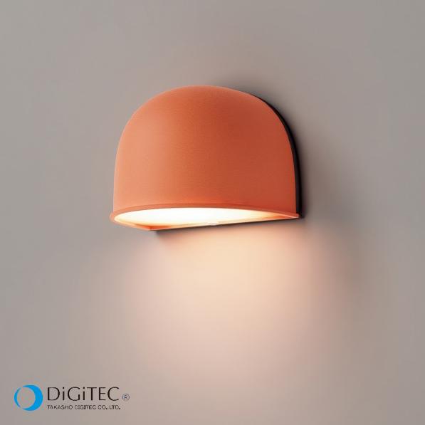 タカショー 表札灯 『エクスレッズ ウォールライト 1型 Colors』 シェルオレンジ ≪LED4.5W : 電球色≫ LEDライト/ガーデンライト 【ローボルトライト(12V)】