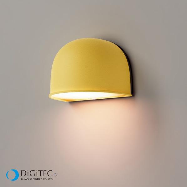 タカショー 表札灯 『エクスレッズ ウォールライト 1型 Colors』 マリーイエロー ≪LED4.5W : 電球色≫ LEDライト/ガーデンライト 【ローボルトライト(12V)】