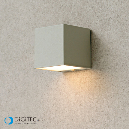 タカショー 表札灯 『エクスレッズ ウォールライト 2型』 シルバーグレー ≪LED4.5W : 電球色≫ LEDライト/ガーデンライト 【ローボルトライト(12V)】