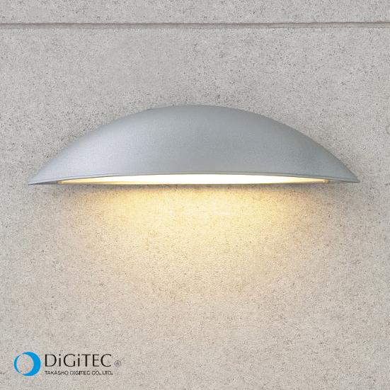 タカショー 表札灯 『エクスレッズ ウォールライト 3型』 シルバーグレー ≪LED4.5W : 電球色≫ LEDライト/ガーデンライト 【ローボルトライト(12V)】