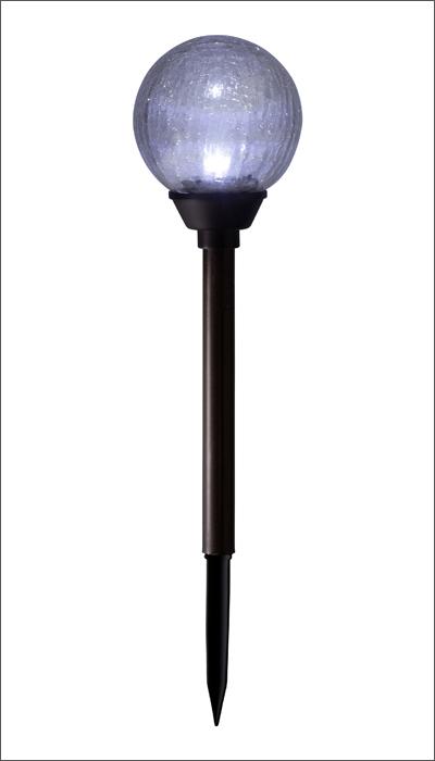 タカショー ソーラーライト  「ソーラーライト ガラスボール」  LED色:ホワイト  屋外/防雨製/照度センサー  ガーデンライト/庭の照明  ニッケル水素充電池