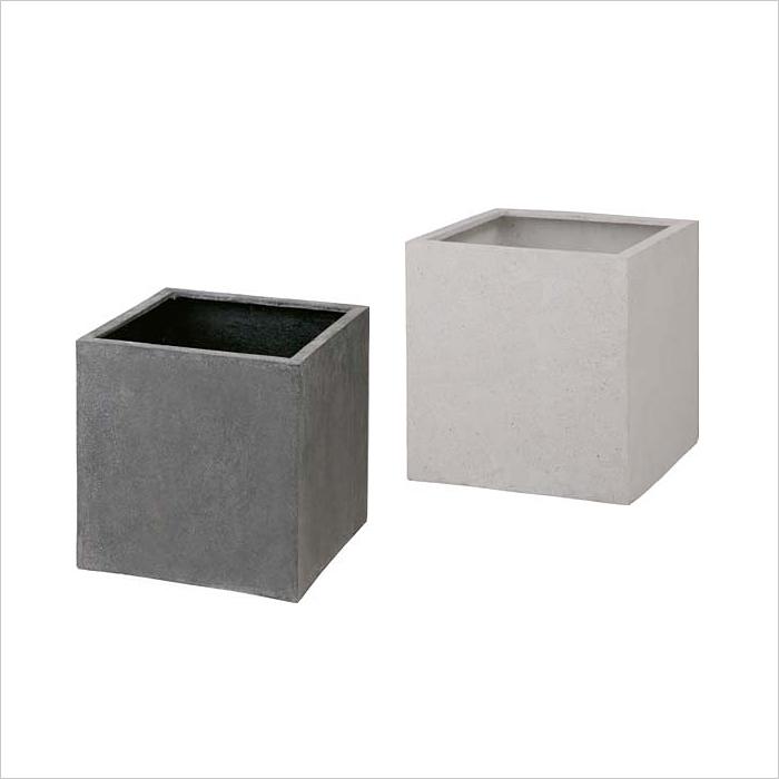 タカショー 高級ポット 「キューブポット カント(540)」 <樹脂系素材> 質感、耐候性がアップ♪