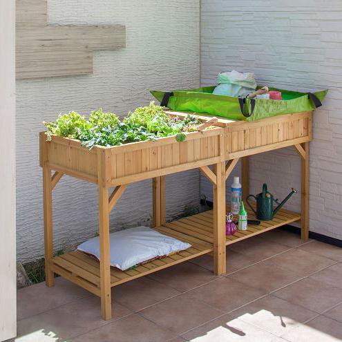 タカショー 木製プランター 「レイズドベッドプランター ハーブタイプ」 天然木 ウッドプランター ガーデニング 【花や野菜の栽培に♪】