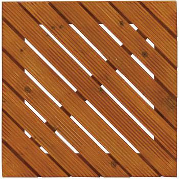 タカショー デッキパネル 「デザインデッキアロー 45×45cm」 ≪8枚セット≫ ウッドデッキ・ウッドパネル