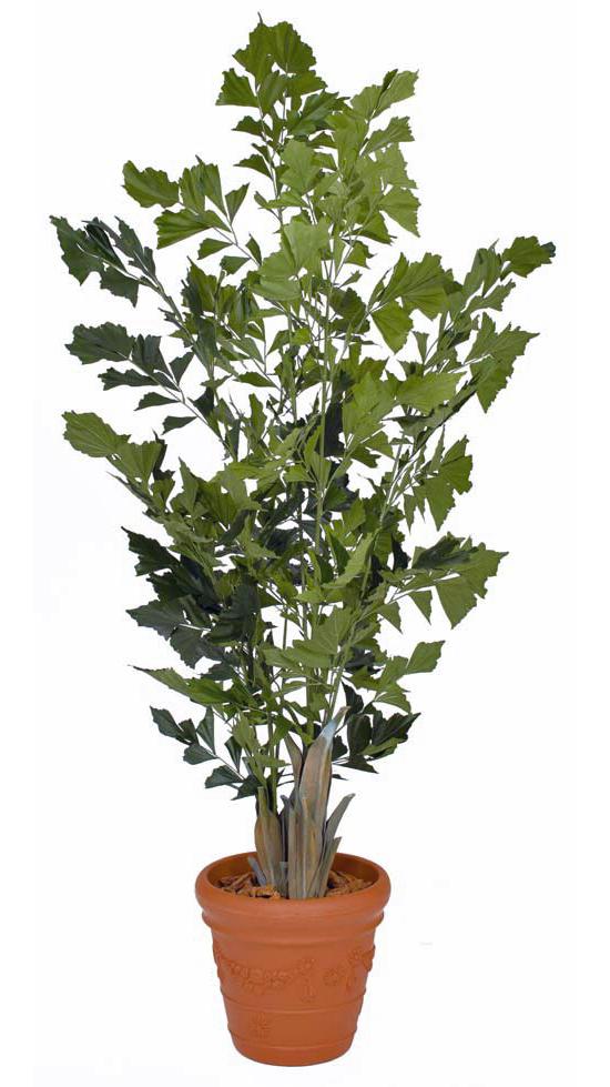 タカショー グリーンデコ鉢付「クジャクヤシ 1.9m」<人工植物>
