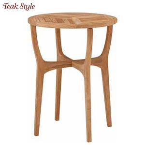 タカショー ガーデンテーブル 「ロータス テーブル 60」 ≪高級チーク製ファニチャー≫ 【チークスタイルシリーズ】
