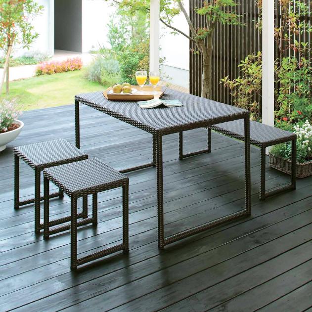 d62fc6228d40 Takasho garden table four points set