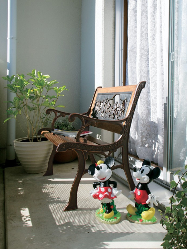 Disney Mickey Minnie balcony garden furniture Takashi 'porch bench Mickey TD-FG01