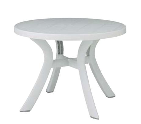 タカショー ガーデンテーブル 「トスカーナ テーブル(プレーンホワイト)」 ≪高級樹脂製ファニチャー≫ ナルディシリーズ
