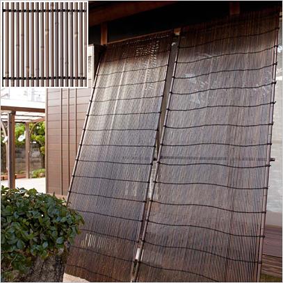タカショーのエコ竹たてす よしずを好評販売中 送料無料 限定モデル タカショー 合成竹たてす 補助ポール付き 幅1200×高さ3000mm 人工竹仕様 通販 虎竹
