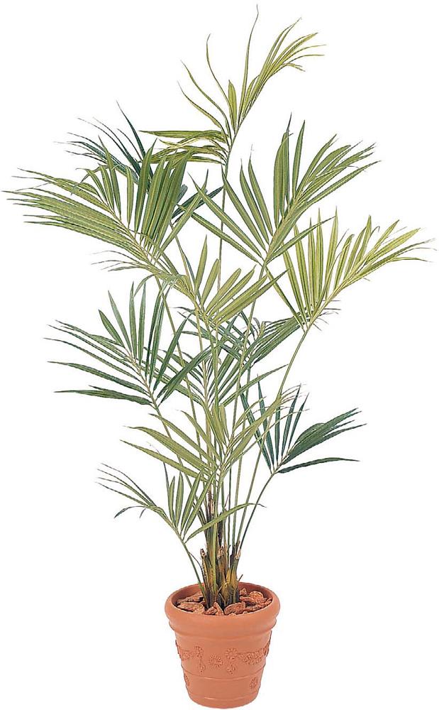 タカショー グリーンデコ 「ニューケンチャヤシ 2.4m」 鉢付 <人工植物>