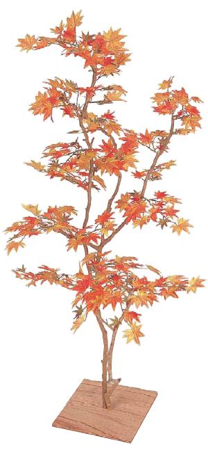 タカショー グリーンデコ 板付「もみじ板付 紅葉」1.3m