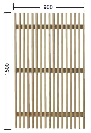 タカショー e-ウッドフェンス 「e-ウッドパネル12型(ルーバー)」 無塗装 W900×D60×H1500 1枚 天然木(ACQ加圧注入処理)杉材
