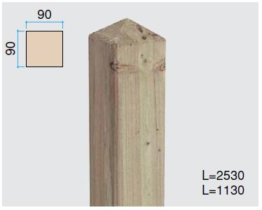 タカショー e-ウッド専用柱 フェンス・ゲート用「e-ウッド柱 H18用※別注塗装 ホワイト以外」90×90×L2530mm