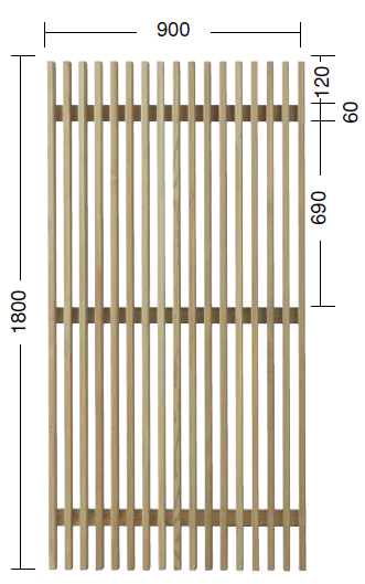 タカショー e-ウッドフェンス 「e-ウッドパネル12型(ルーバー)」 塗装済み(全6色) W900×D60×H1800 1枚 天然木(ACQ加圧注入処理)杉材