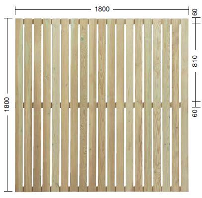 タカショー e-ウッドフェンス「e-ウッドパネル13型(板塀)」 塗装済み(ホワイト) W1800×D40×H1800 1枚 天然木(ACQ加圧注入処理)杉材