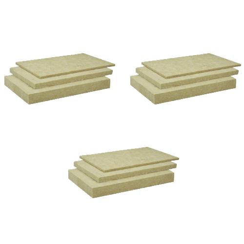 【3箱セット】ロックウール(ボード)吸音・断熱材 「MGボード 080」密度80k厚さ50×605×910mm1ケース/8枚入※ガラスクロスなし