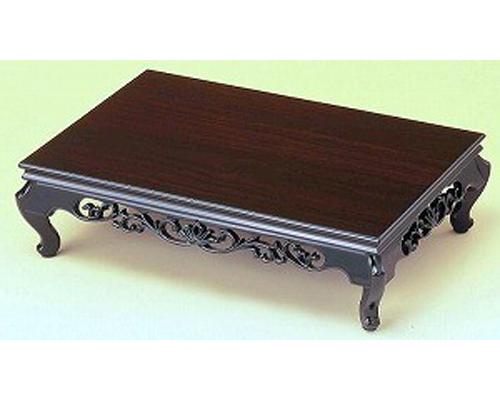 花台 つばき 黒丹調 15号 木製飾り台 国産品
