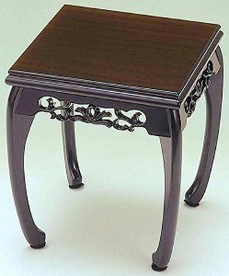 香炉台 花台 すずらん 黒丹調 6号 木製飾り台 国産品